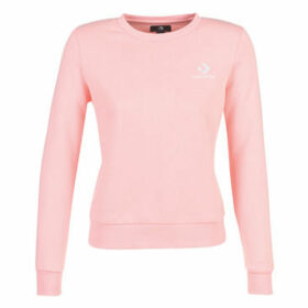 Converse  STAR CHEVRON EMBROIDERED CREW  women's Sweatshirt in Pink