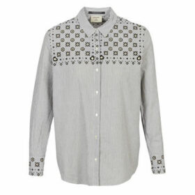 Maison Scotch  BUTTON UP SHIRT WITH BANDANA PRINT  women's Shirt in Grey