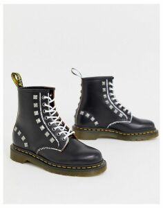 Dr Martens 1460 stud leather ankle boots in black