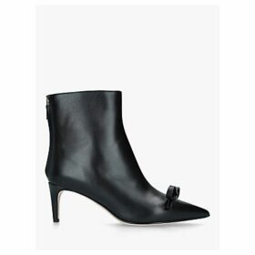 RED Valentino Leather 60 Ankle Boots, Black
