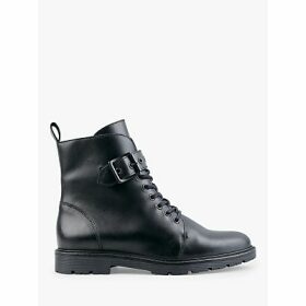 hush Buxton Leather Biker Ankle Boots, Black