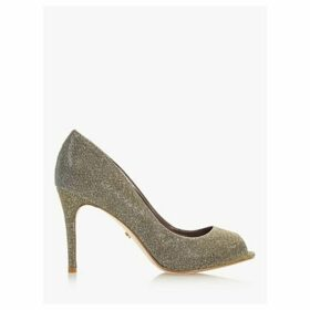 Dune Dinah 2 Peep Toe Court Shoes, Bronze