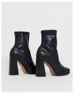 ASOS DESIGN Embassador platform sock boots in black