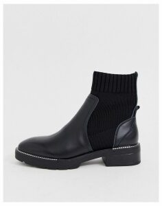 Sixty Seven leather sock boots