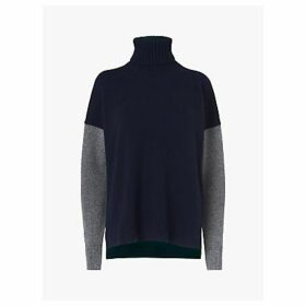 L.K.Bennett Sissi Colour Block Turtleneck Jumper, Multi
