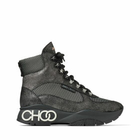 INCA/F Anthracite Crosta Suede and Technical Mesh Trainers