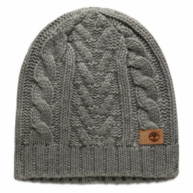 Timberland Cable Beanie Hat For Women In Grey Grey, Size ONE