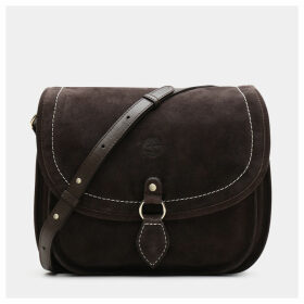 Timberland Magnolia Harbor Saddle Bag For Women In Dark Brown Dark Brown, Size ONE