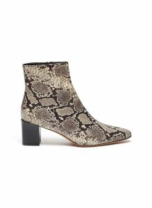 'Lanica' snake-embossed leather ankle boots