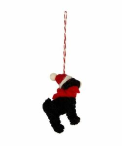 Felt Black Labrador Decoration