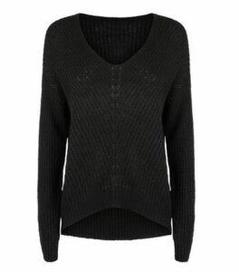 JDY Black V-Neck Jumper New Look