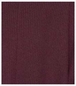 Burgundy V Neck Fine Knit Top New Look