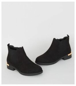 Wide Fit Black Suedette Chelsea Boots New Look Vegan