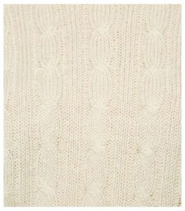 Off White Cable Knit Crop Jumper New Look