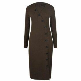 Only Nella Long Sleeve Midi Dress - Beech