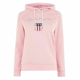 Gant Shield Logo Hoody - 614 Preppy Pink