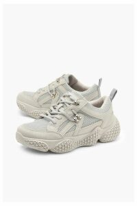 Womens Bubble Sole Chunky Hiker Trainers - grey - 8, Grey
