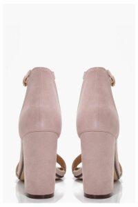 Womens Two Part Block Heels - beige - 8, Beige