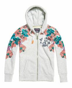 Superdry Tropical Floral Zip Hoodie