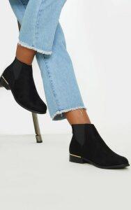 Black Wide Fit Chelsea Boot, Black