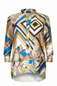 **Live Unlimited Ivory Abstract Print Blouse, Dark Multi