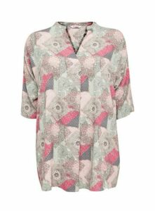 Pink Patchwork Paisley Print Blouse, Dark Multi