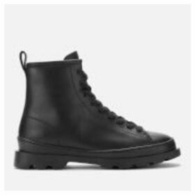Camper Women's Brutus Leather Lace Up Boots - Black - UK 8