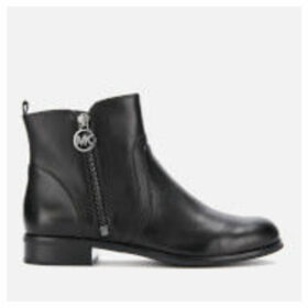 MICHAEL MICHAEL KORS Women's Karsyn Leather Flat Ankle Boots - Black - UK 8