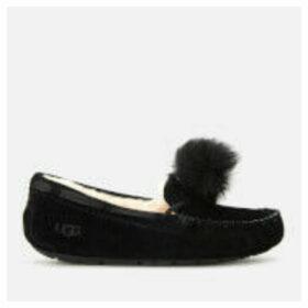 UGG Women's Dakota Pom Pom Moccasin Slippers - Black