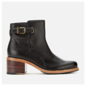 Clarks Women's Clarkdale Jax Leather Heeled Ankle Boots - Black - UK 8