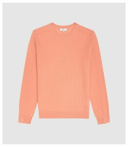 Reiss Jinks - Wool Cashmere Blend Crew Neck Jumper in Peach, Mens, Size XXL