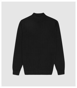 Reiss Kelby - Merino Wool Turtleneck in Black, Mens, Size XXL