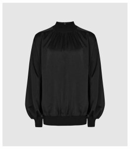 Reiss Magda - Turtle Neck Top in Black, Womens, Size 16