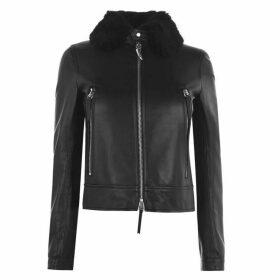 Giuseppe Zanotti Abbigliamento Lined Leather Jacket