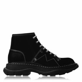 Alexander McQueen Lace Up Tread Boots