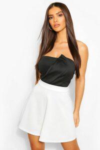 Womens Basic Fit And Flare Skater Skirt - White - 8, White