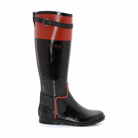 Trendy Wellington Boots with Zips and Straps