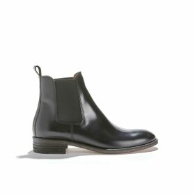 7226 Polido Black Leather Ankle Boots