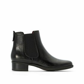 Marly Leather Chelsea Ankle Boots with Block Heel