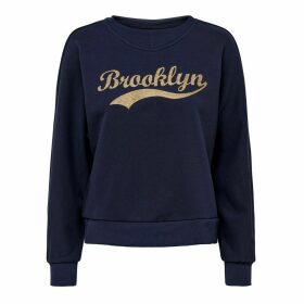 Brooklyn Slogan Sweatshirt in Cotton Mix