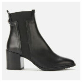 Tod's Women's Leather T Elastic Heeled Boots - Black