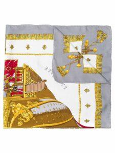 Hermès Pre-Owned Vue de la Corosse de la Galere scarf - Grey