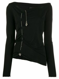 Jean Paul Gaultier Pre-Owned chain detail top - Black