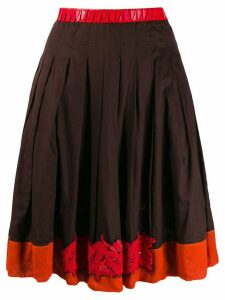 Prada Pre-Owned bead embroidered skirt - Brown