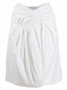 Christian Dior Pre-Owned pleated-effect skirt - White