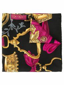 Hermès Pre-Owned Jumbo baroque-print scarf - Black