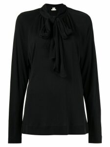 Hermès pre-owned pussy bow blouse - Black