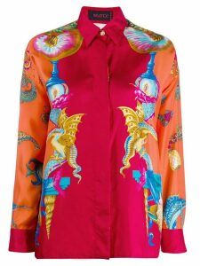 Versace Pre-Owned graphic print shirt - Red