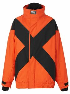 Burberry two-tone track jacket - ORANGE