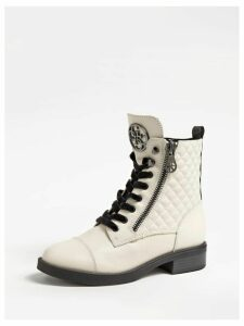 Guess Begonia Leather Combat Boot